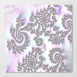 Classy Purple Fractal Art Canvas Print