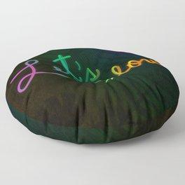 Neon Lettering - Let´s Glow Floor Pillow