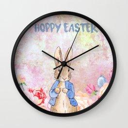 Hoppy The Bunny 3-Hoppy Easter Wall Clock