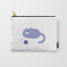 Purple Playful Cat Carry-All Pouch