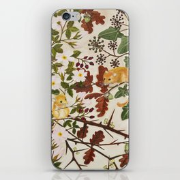 Marsh Tit and Field Mice iPhone Skin