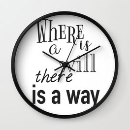 Motivation daily quote Wall Clock