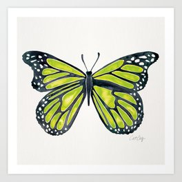 Lime Butterfly Art Print