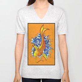 Koi Fish (Magic-arp fiend) Unisex V-Neck