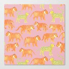 Pink Tigers Canvas Print