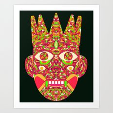 The Psychedelic Daemon I Art Print