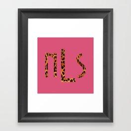 Custom O Framed Art Print