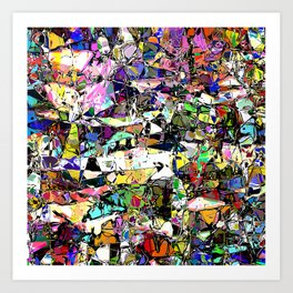 Chaos In Color Art Print