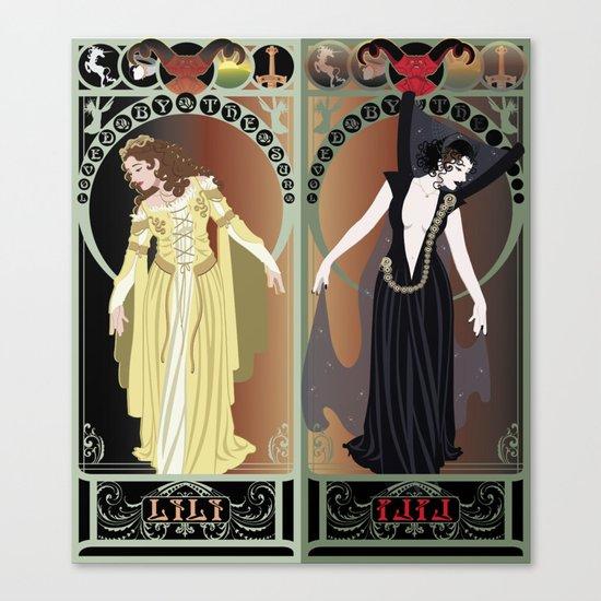 Legend Nouveau - Mirrored Canvas Print