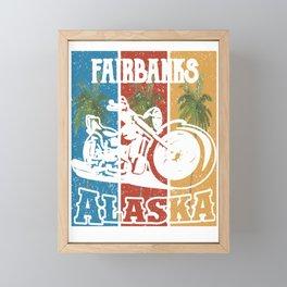 Fairbanks Alaska Lifestlye Retro Custom Framed Mini Art Print