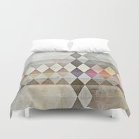 grunge Duvet Covers featuring Grunge K7 by thinschi