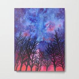 Forest Galaxy Sky Metal Print