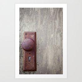 Door Nob Art Print