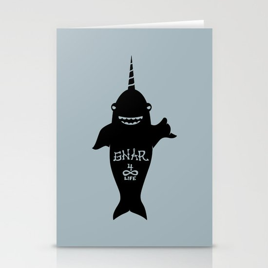GNARWHAL Stationery Cards