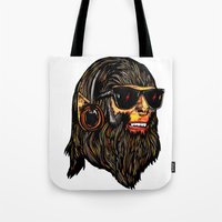 teen wolf Tote Bags featuring Teen Wolf by Vasco Vicente