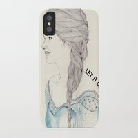 frozen elsa iPhone & iPod Cases featuring Elsa (Frozen) by Kaethe Butcher