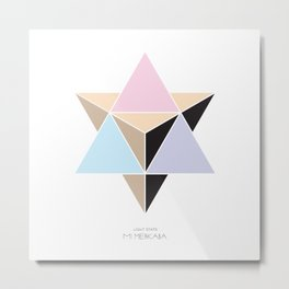 MI MERKABA - Light State Metal Print