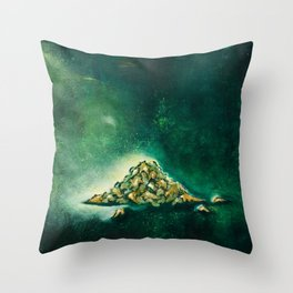 Pile of leaves Throw Pillow