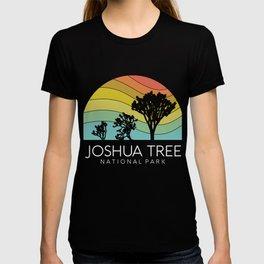 Joshua Tree National Park California Desert Retro Vintage Camping Climbing Landers T-shirt