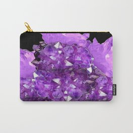 AWESOME PURPLE AMETHYST CRYSTAL CLUSTER Carry-All Pouch