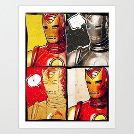 Iron Man: Poker Face Art Print