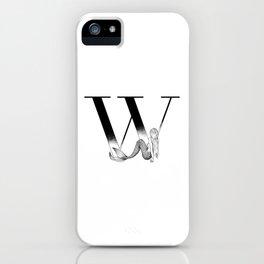 Mermaid Alphabet Series - W iPhone Case