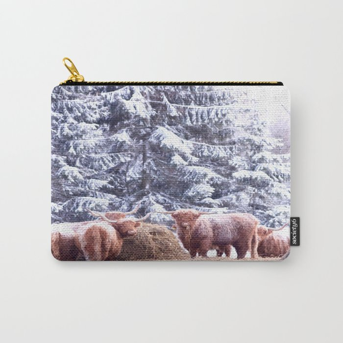 West Highland Cattle Carry-All Pouch