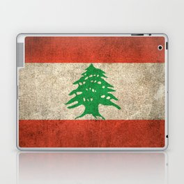 Old and Worn Distressed Vintage Flag of Lebanon Laptop & iPad Skin