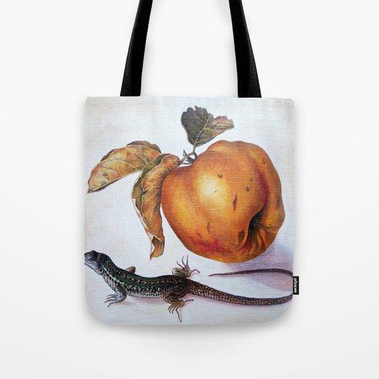 Fruit and lizard Tote Bag