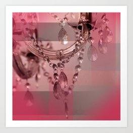 Sparkly Beads on a Chandelier Art Print