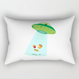 Alien Fastfood Ufo Alien Spaceship Space Rectangular Pillow