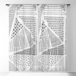 Triangle Zentagle Pattern Sheer Curtain