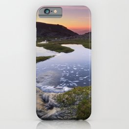 Lagoons. Sierra Nevada National park. At sunset iPhone Case