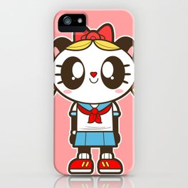 Tokupan Girl (Tokusatsu Panda) Before Henshin iPhone Case