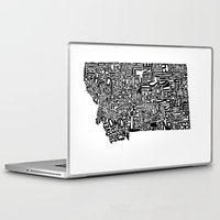 montana Laptop & iPad Skins featuring Typographic Montana by CAPow!