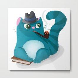 Professor Kitty Metal Print