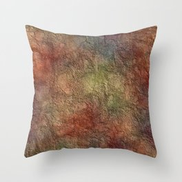 Colorful Earth Tones Brown Blue Abstract Throw Pillow