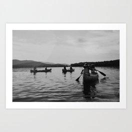 Canoe to Fish Creek Art Print