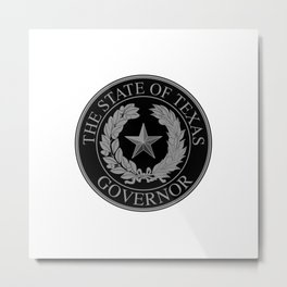 Texas State Governor Seal Metal Print