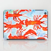 lobster iPad Cases featuring Lobster by Julie Lehite