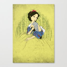 Her Hidden Tattoos Canvas Print