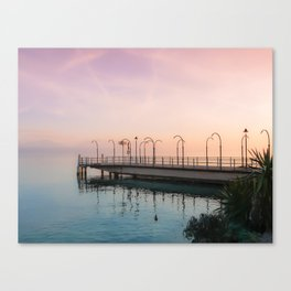 A Suspended Moment In Time Over The Lake Canvas Print