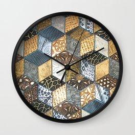 Tumbling Blocks #2 Wall Clock