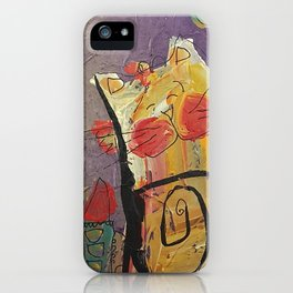 Cat in the city iPhone Case