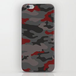 Red camouflage iPhone Skin