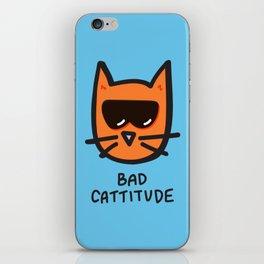 Bad Cattitude iPhone Skin
