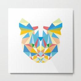 Diamond Kaleidoscopic Cat Metal Print