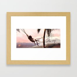Slow days in Guadeloupe Framed Art Print