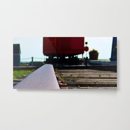 The track and the Train Metal Print