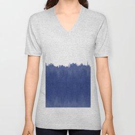 Indigo Blue Dip Dye Unisex V-Neck